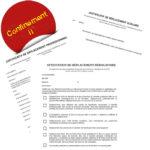 Confinement II - Attestations dérogatoires